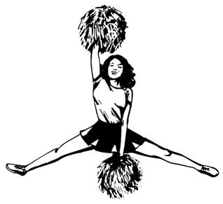 Cheerleader Splits Decal Sticker