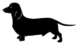 Dachshund v3 Decal Sticker