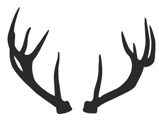 Deer Antlers Silhouette Decal Sticker