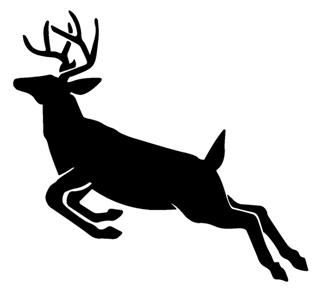 Deer Jumping Silhouette v2 Decal Sticker