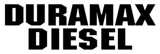Duramax Diesel Decal Sticker