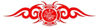 Fire Dept Shield Tribal v2 Decal Sticker