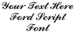 Ford Script Font Decal