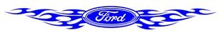 Ford with Tribal Flames Decal Sticker