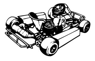 Go Kart v8 Decal Sticker