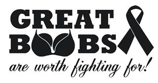 Great Boobs Are Worth Fighting For Decal Sticker