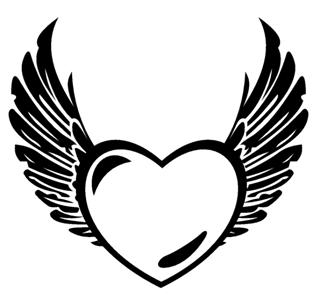 Heart With Wings v1 Decal Sticker