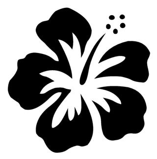 Hibiscus Flower v1 Decal Sticker