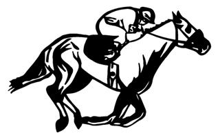 Horse Racing v3 Decal Sticker