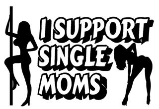 I Support Single Moms Decal Sticker