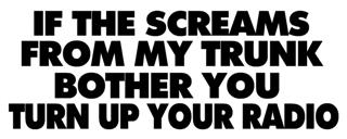 If The Screams Bother You Decal Sticker