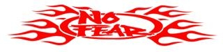 No Fear with Flames Decal Sticker