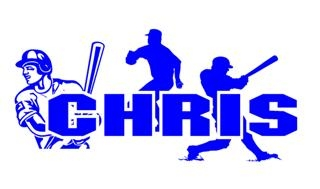 Personalized Baseball Player Name Decal Sticker