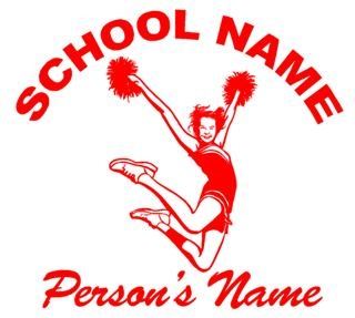 Personalized Cheerleading 2 Decal Sticker