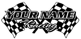 Personalized Racing 1 Decal Sticker