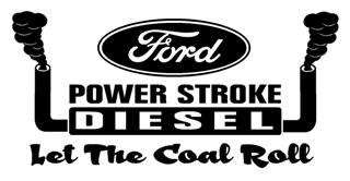 Power Stroke Let The Coal Roll Decal Sticker