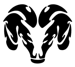 Ram Head v3 Decal Sticker