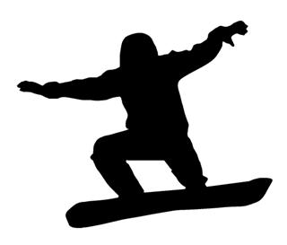 Snowboard Silhouette v8 Decal Sticker