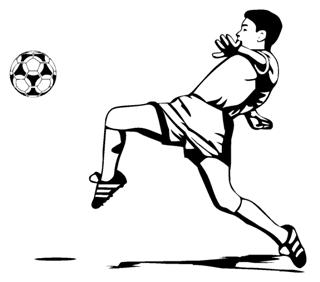 Soccer Player 6 Decal Sticker