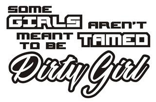 Some Girls Aren't Meant To Be Tamed Decal Sticker