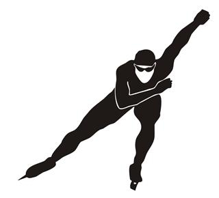 Speed Skater Silhouette v2 Decal Sticker