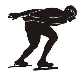 Speed Skater Silhouette v4 Decal Sticker