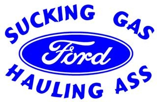 sucking gas ford decal sticker With kitchen cabinets lowes with ford truck window sticker