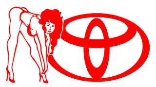 Toyota Girl v2 Decal Sticker