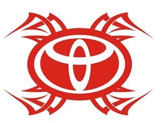 Toyota Tribal v4 Decal Sticker
