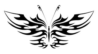 Tribal Butterfly v18 Decal Sticker