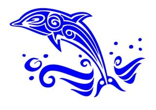 Tribal Dolphin v3 Decal Sticker