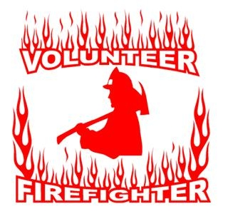 Volunteer Firefighter v2 Decal Sticker