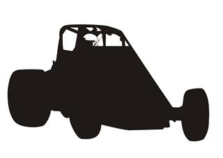 Wingless Sprint Car Sillhouette v1 Decal Sticker